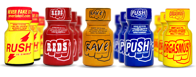 Ram poppers, Rush poppers, Poprs, Quicksilver Poppers