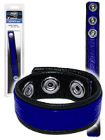 Push Xtreme Leather - Leather Cockring Strap Band Blue